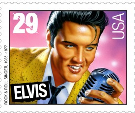 The famous Elvis stamp